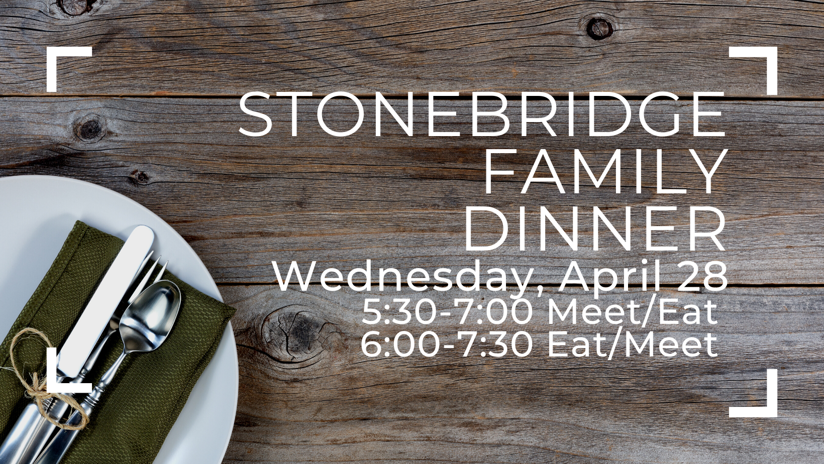 You are currently viewing StoneBridge Family Dinner