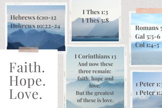 Summer Series Talks: Faith, Hope & Love