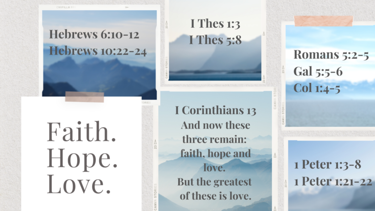 Read more about the article Summer Series Talks: Faith, Hope & Love