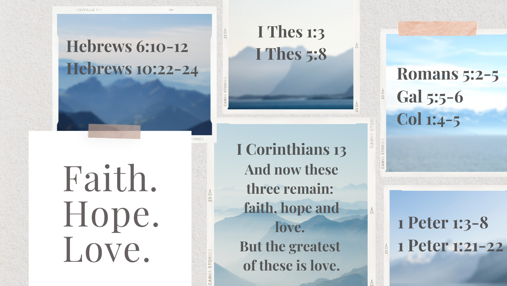 You are currently viewing Summer Series Talks: Faith, Hope & Love